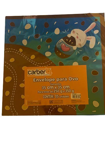 Envelope Azul para ovo decorado 35x35cm com 5 unidades -Carber