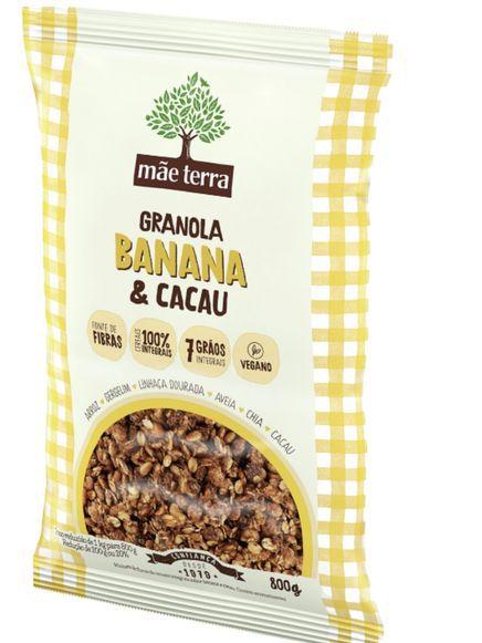 Granola banana & cacau 800g - Mãe terra