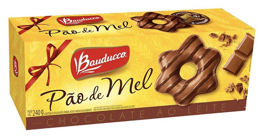 Pão de Mel coberto com Chocolate Bauducco - 240g