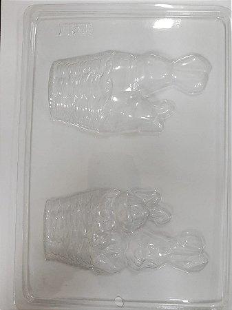 Forma de acetato cesta dois coelho frente e verso (Ref. 47)  - Freebox