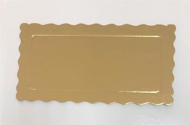 Cake boart Retangular ouro N30x19 cm - Curifest