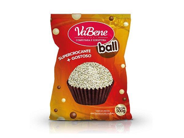Confeito Cereal Mini Com Cobertura Sabor Chocolate Branco 500g - Vabene