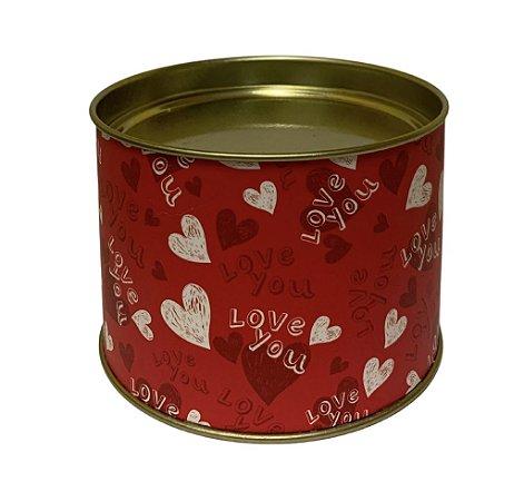 Lata para doces Love You 7x10cm