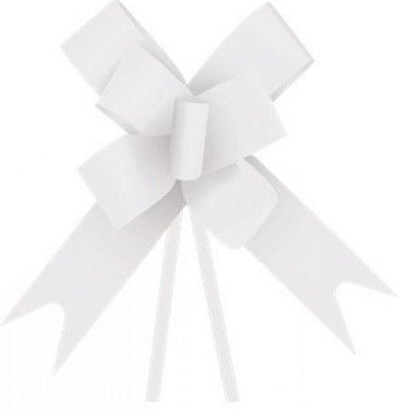 Laço pronto branco 2,3x42cm com 10 unidades - Carber