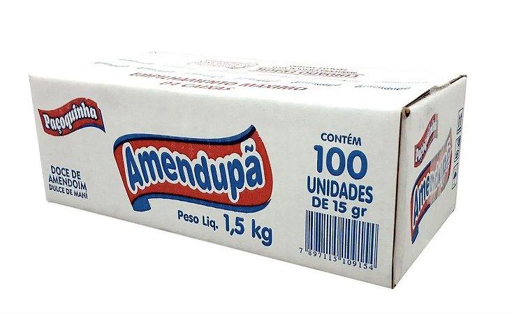 Paçoca Rolha Embalada com 100 unidades de 15g - Amendupã