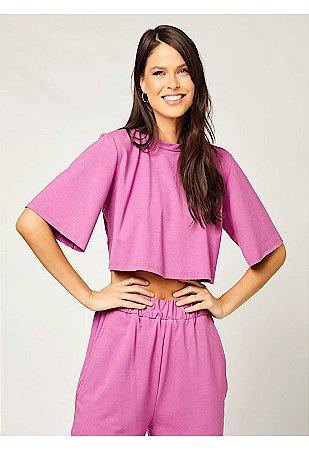 Blusa cropped violeta