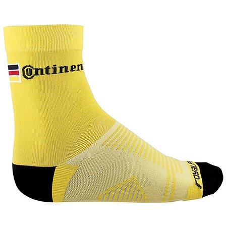 Meia Amarela c/ Logo Preta - Continental