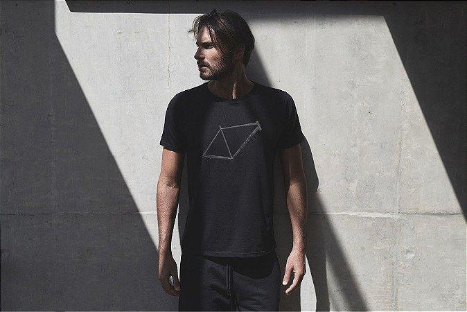 Camiseta Masculina Quadro Preto - Sense