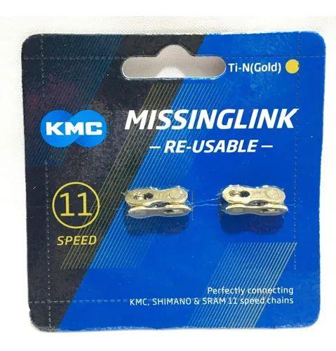 Emenda Corrente 11v CL555R-TI Dourado - KMC