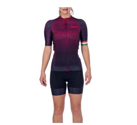 Camisa Ciclismo Supreme Rosa Feminina - Woom