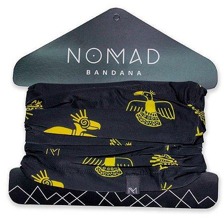 Bandana Maia Preto Com Amarelo - Nomad