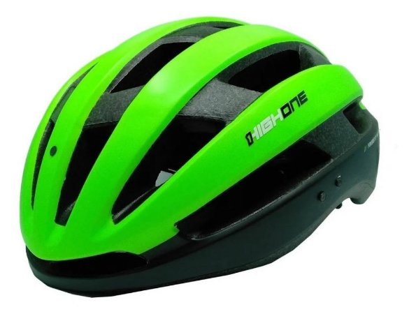 Capacete High One Bike MTB/Speed Wind Aero Preto c/ Verde