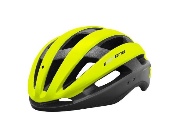 Capacete High One MTB/Speed Wind Aero Preto c/ Verde Neon