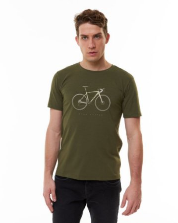 Camiseta Masculina Gravel Verde Militar - Sense