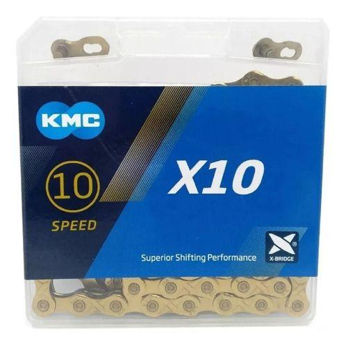 Corrente 10v X10  TI-Dourada 116 Elos - KMC