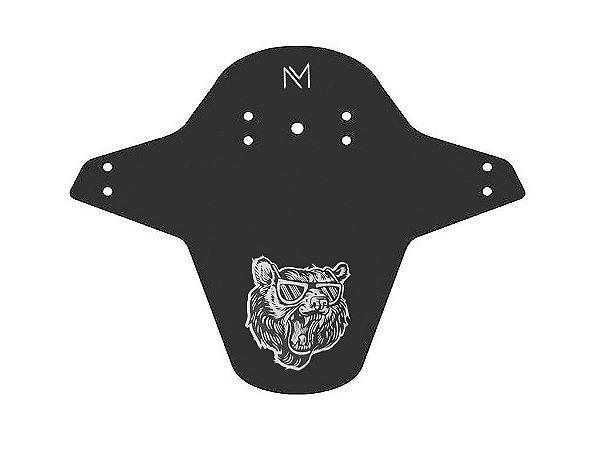 Paralama MTB Universal Dianteiro Bear Preto e Branco - Nomad