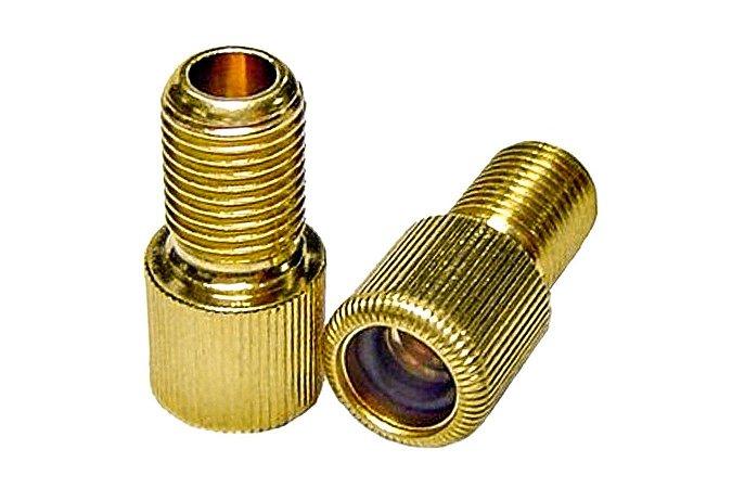 Adaptador de Válvula Presta para Schrader Dourado