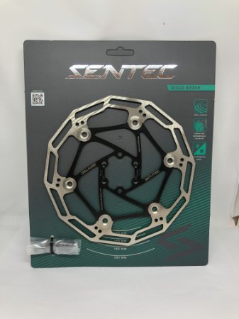 Disco Rotor 180mm de Aço Inox - Sentec