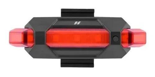 Vista Light Traseira 5 Funções c/ Recarga USB Preto - High One