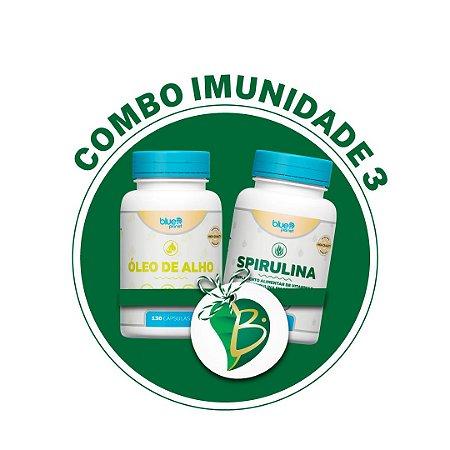 COMBO IMUNIDADE 3 - ÓLEO DE ALHO + SPIRULINA