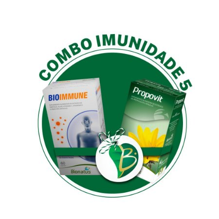 COMBO IMUNIDADE 5 - BIOIMMUNE (BIONATUS) + PROPOVIT (BIONATUS)