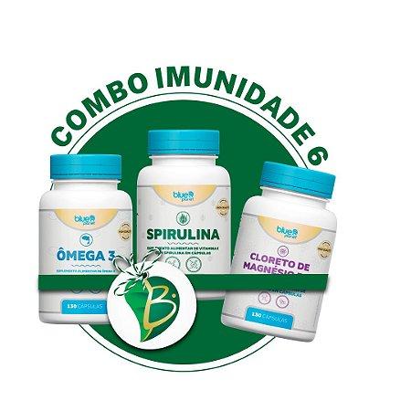 COMBO IMUNIDADE 6 - Cloreto De Magnésio P.A + Ômega 3 + Spirulina