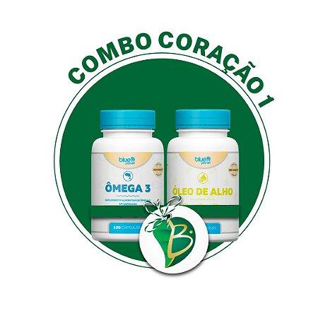 COMBO CORAÇÃO 1 - ÔMEGA 3 + ÓLEO DE ALHO