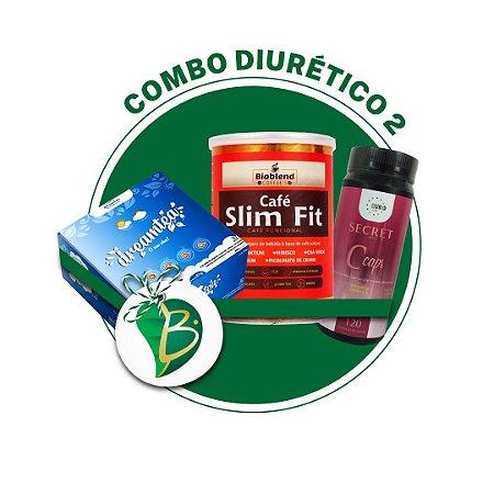 COMBO DIURÉTICO 2 - CHÁ DREAM TEA + CAFÉ SLIM FIT + SECRET CCAPS