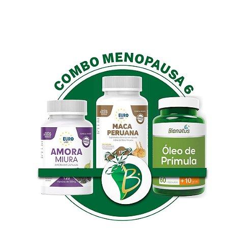 COMBO MENOPAUSA 6 - AMORA MIURA + MACA PERUANA + ÓLEO DE PRÍMULA