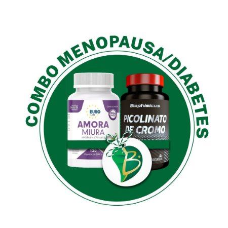 COMBO MENOPAUSA / DIABETES - AMORA MIURA + PICOLINATO DE CROMO