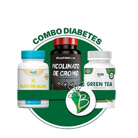 COMBO DIABETES - PICOLINATO DE CROMO + GREEN TEA + ÓLEO DE ALHO