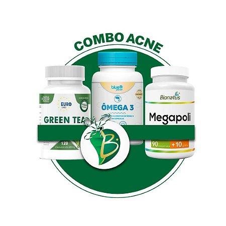 COMBO ACNE - ÔMEGA 3 + MEGAPOLI 90/10 + GREEN TEA