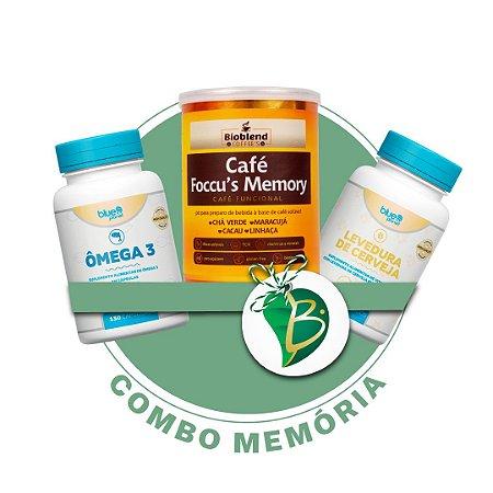 COMBO MEMÓRIA - ÔMEGA 3 + LEVEDURA DE CERVEJA + CAFÉ FOCC'US MEMORY
