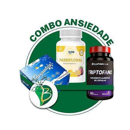 COMBO ANSIEDADE - CHÁ DREAM TEA + PASSIFLORAL + TRIPTOFANO