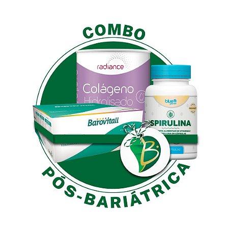 COMBO PÓS-CIRURGIA BARIÁTRICA - BAROVITAL + SPIRULINA + COLÁGENO HIDROLISADO VERISOL