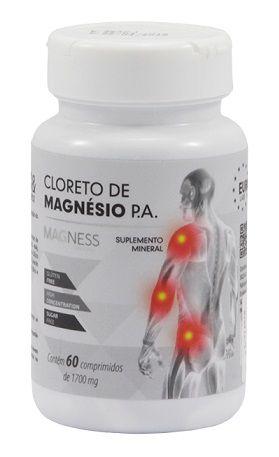 CLORETO DE MAGNÉSIO MAGNESS 60 COMPRIMIDOS VEGAN
