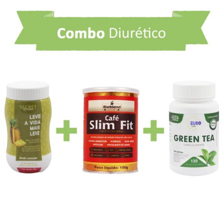 Diurético! Secret Drink Aqualess + Café Slim Fit + Green Tea