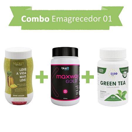 Emagrecedores! Secret Drink Aqualess + Maxway Gold +Green Tea