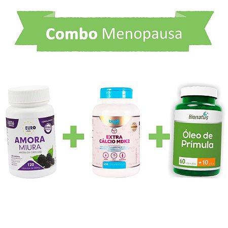Contra Menopausa! Amora Miura + Extra Cálcio MDK2 + Óleo de prímula