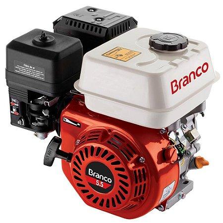 MOTOR GAS.BRANCO 05.5CV B4T HORIZ.S/PART