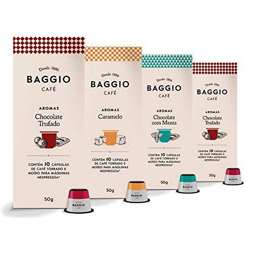 40 Cápsulas Para Nespresso – Café Baggio – Chocolate Trufado, Menta e Caramelo
