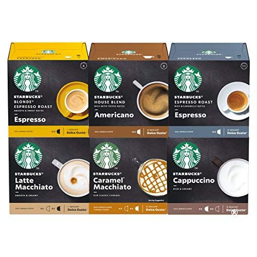 Kit Cápsulas Dolce Gusto Starbucks – 6 Caixas - Degustação Café e Bebida