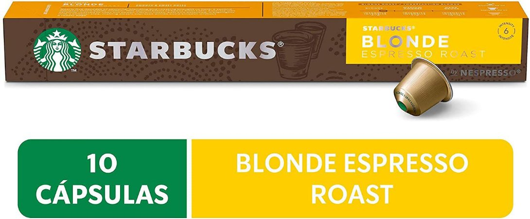 Café em Cápsula, Starbucks, Nespresso, Blonde Espresso, Roast, 10 Cápsulas