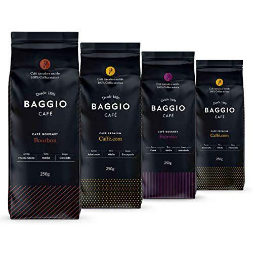 Café Em Pó Baggio - 4 Pacotes - 1.000g - Café Gourmet Arábica Moído