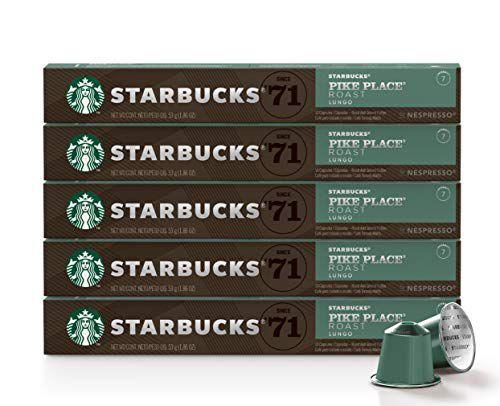 Café Starbucks em Cápsulas Nespresso, Pike Place Roast - 50 cápsulas