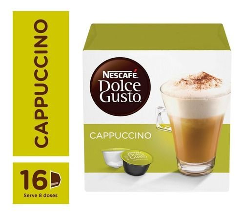 Capsula De Café P/ Cafeteira Dolce Gusto  Cappuccino 16 Unid