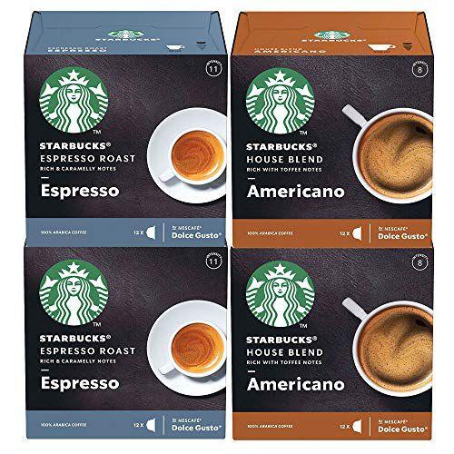 Kit 48 Cápsulas Nescafé Dolce Gusto Starbucks Espresso e Americano - Nestlé