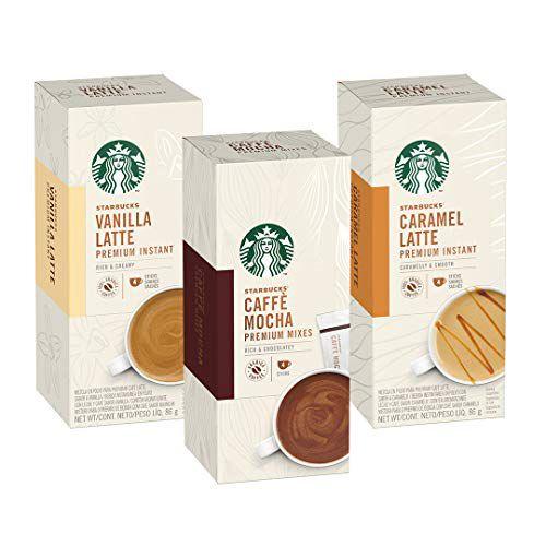 Kit de Lattes Solúveis Premium Starbucks - 12 unidades