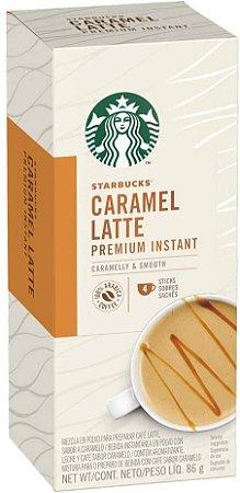 Sachê Solúvel Starbucks Caramel Latte - 4 unidades
