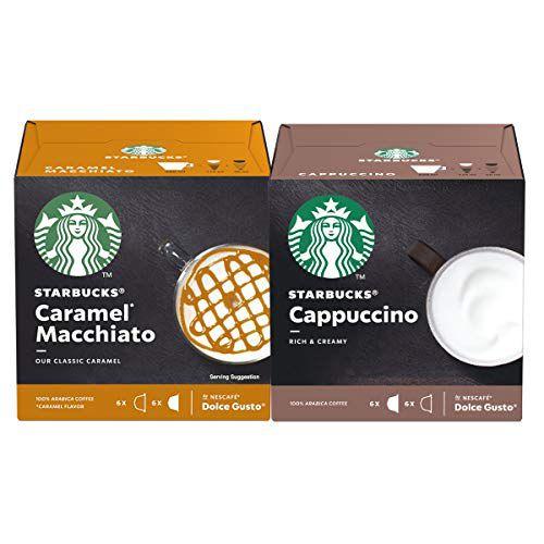 24 Cápsulas Dolce Gusto Starbucks – 2 Caixas – Cappuccino E Caramel Macchiato